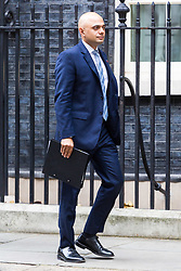 London, October 31 2017. Communities and Local Government Secretary Sajid Javid leaves the weekly UK cabinet meeting at Downing Street. © Paul Davey