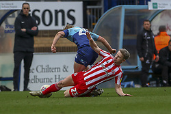March 9, 2019 - High Wycombe, Buckinghamshire, United Kingdom - Sunderlands Grant Leadbitter wins a tackle during the Sky Bet League 1 match between Wycombe Wanderers and Sunderland at Adams Park, High Wycombe, England  on Saturday 9th March 2019. (Credit Image: © Mi News/NurPhoto via ZUMA Press)