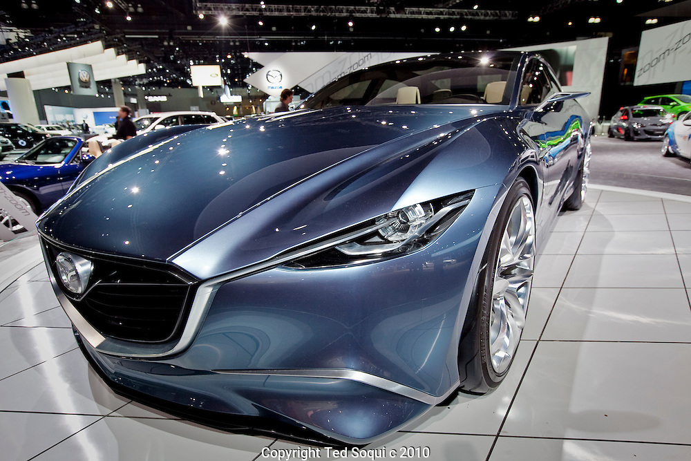 Mazda concept vehicle by their new design team Shinari..2010 Los Angeles Auto Show held at the L.A. Convention Center.