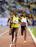 Friidrett<br /> IAAF Diamond League 2013<br /> Doha 10.05.2013<br /> Foto: imago/Digitalsport<br /> NORWAY ONLY<br /> <br /> Sweden s Abeba Aregawi (Front) runs during the women s 1500m final at the IAAF Diamond League in Doha, capital of Qatar, May 10, 2013. Aregawi claimed the title of the event with 3 minutes and 56.60 seconds.