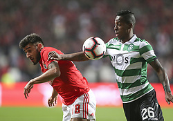 February 7, 2019 - Na - Lisbon, 06/02/2019 - SL Benfica received this evening the Sporting CP in the Stadium of Light, in game the account for the first leg of the Portuguese Cup 2018/19 semi final. Salvio and Borja  (Credit Image: © Atlantico Press via ZUMA Wire)