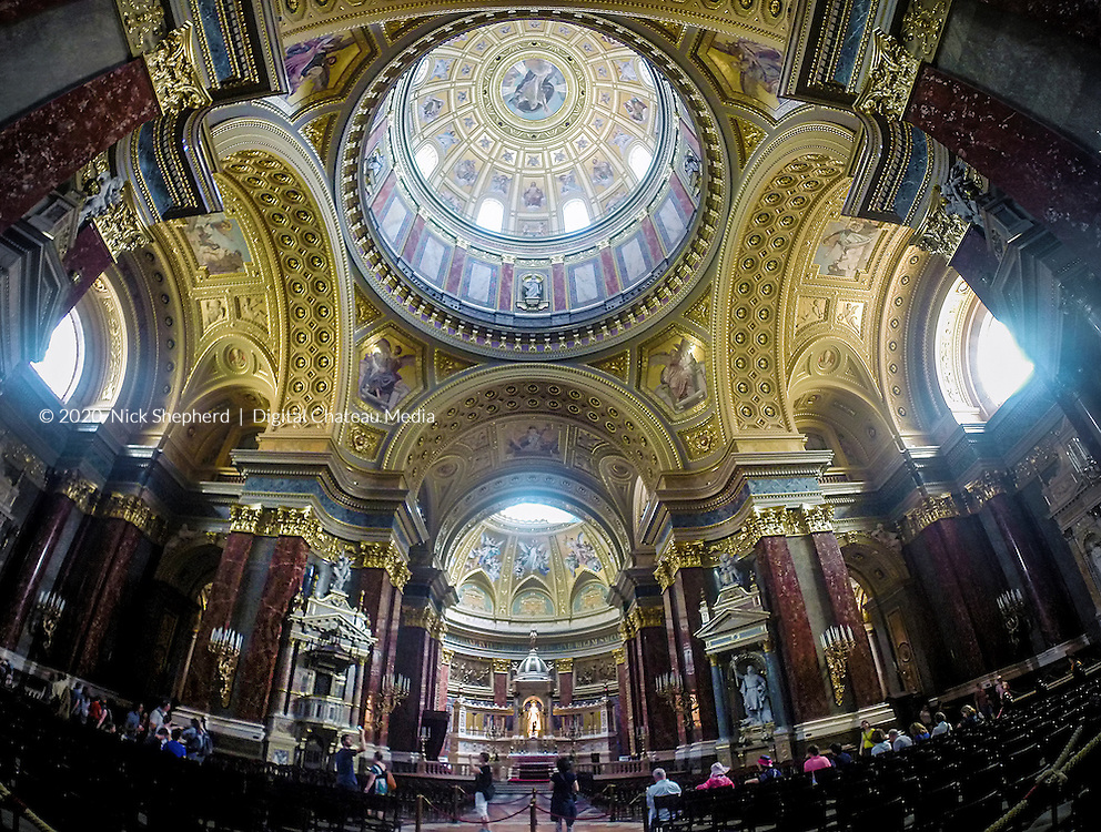 The interior of the Basilica of St Stephen, Budapest, Hungary.