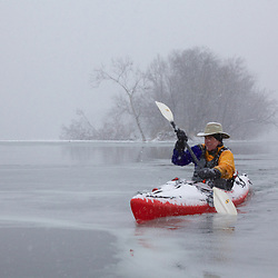 Paddling the Potomac with Ice and Snow