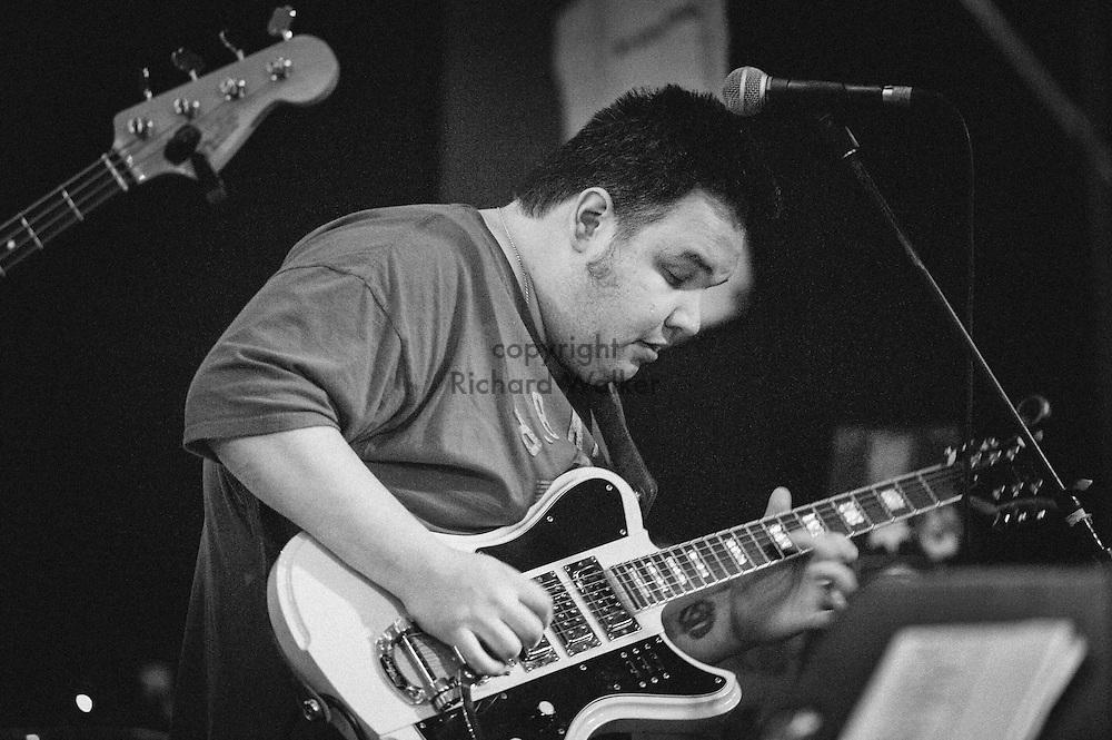 2014 October 09 - Yadda Yadda Blues Band performs at The Mix in Georgetown, Seattle, WA, USA. Anthony Estrada, guitar. By Richard Walker
