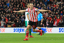 March 2, 2019 - Sunderland, England, United Kingdom - Sunderland's George Honeyman celebrates scoring his side's second goal during the Sky Bet League 1 match between Sunderland and Plymouth Argyle at the Stadium Of Light, Sunderland on Saturday 2nd March 2019. (Credit Image: © Mi News/NurPhoto via ZUMA Press)