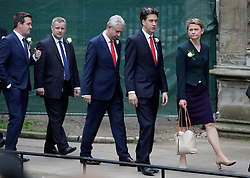 © Licensed to London News Pictures. 20/06/2016. London, UK. Members of Parliament, including CHUKA UMMUNA MP (centre) arrive at St Margaret's Church, Westminster Abbey to take part in a Service of Prayer and Remembrance to commemorate Jo Cox MP, who was killed in her constituency on June 16, 2016. Photo credit: Peter Macdiarmid/LNP