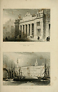 The Corn Exchange (Top) Custom House (Bottom) From the book Illustrated London, or a series of views in the British metropolis and its vicinity, engraved by Albert Henry Payne, from original drawings. The historical, topographical and miscellanious notices by Bicknell, W. I; Payne, A. H. (Albert Henry), 1812-1902 Published in London in 1846 by E.T. Brain & Co