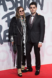 Eva Cavalli, Robin Cavalli attend Fashion for Relief Cannes 2018 at Aeroport Cannes Mandelieu during the 71st annual Cannes Film Festival on May 13, 2018 in Cannes, France. Photo by Nasser Berzane/ABACAPRESS.COM