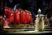 Gaston De Cardenas/El Nuevo Herald -- Act I the death of the Prince of Persia in the Florida Grand Opera of Puccini's Turandot