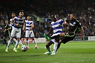 Brighton & Hove Albion centre forward Tomer Hemed (10) shoots at goal during the EFL Sky Bet Championship match between Queens Park Rangers and Brighton and Hove Albion at the Loftus Road Stadium, London, England on 7 April 2017.