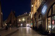 2020-02-08 Kraków widok na Plac Mariacki od strony Ryneku Głównego.