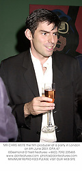 MR CHRIS WEITE the film producer at a party in London on 6th June 2001.OPA 47