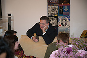 GREGORIO NAPOLEONE, Valeria and Gregorio Napoleone and Joe Scotland host a dinner at therir home in Kensington  in celebration of Sol  Calero's commission at Studio Voltaire.  London. 13 October 2015