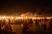 The Market at the Casbah of the Old City of Marrakesh, Morocco at night time