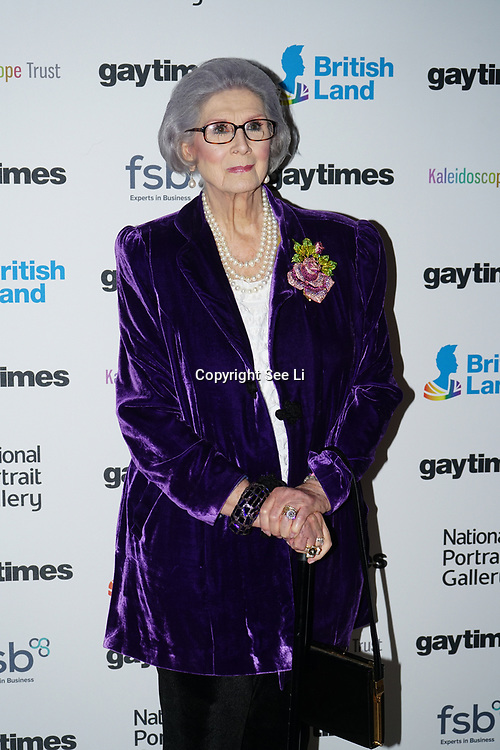 April Ashley, MBE is an English model attend the Gay Times Honours on 18th November 2017 at the National Portrait Gallery in London, UK.