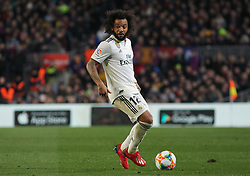 February 6, 2019 - Barcelona, BARCELONA, Spain - Marcelo of Real Madrid in action during Spanish King championship, football match between Barcelona and Real Madrid, February 06th, in Camp Nou Stadium in Barcelona, Spain. (Credit Image: © AFP7 via ZUMA Wire)