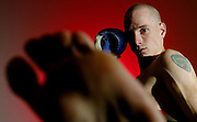Kickboxer Alain Sylvestre is seen while training at Ronin Mixed Martial Arts in Ottawa, Ont., on Dec 4, 2004. This is for a one-page profile on Sylvestre by Jan Dutkiewicz..(Ottawa Sun Photo By Sean Kilpatrick)
