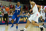 DALLAS, TX - FEBRUARY 01: Joe Jackson #1 of the Memphis Tigers brings the ball up court against the SMU Mustangs on February 1, 2014 at Moody Coliseum in Dallas, Texas.  (Photo by Cooper Neill/Getty Images) *** Local Caption *** Joe Jackson