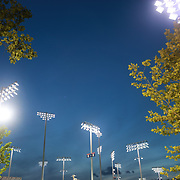 2017 U.S. Open - August 28.  DAY ONE. The outside courts lit by floodlights on day one of the US Open Tennis Tournament at the USTA Billie Jean King National Tennis Center on August 28, 2017 in Flushing, Queens, New York City.  (Photo by Tim Clayton/Corbis via Getty Images)