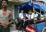 School children in Delhi