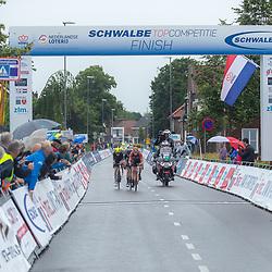 VELDHOVEN (NED) July 4 <br /> CYCLING <br /> The first race of the Schwalbe Topcompetition the Simac Omloop der Kempen<br /> Koplopers met Jasper de Laat, Rick Ottema, Jens Tullner