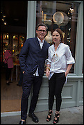 LOUISE OLSEN; STEVE ORMANDY, Dinosaur Designs launch of their first European store in London. 35 Gt. Windmill St. 18 September 2014
