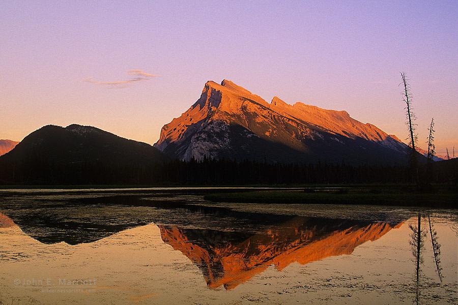 Mt Rundle and Vermilion Lakes, Banff National Park, Alberta, Canada