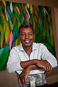 Famed artist Jonathan Green in his studio on Daniels Island January 9, 2011.    (photo by Richard Ellis)