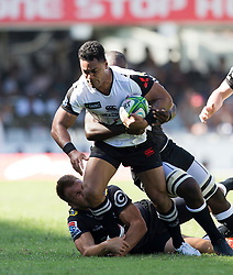 Durban. 100318.  Sione Teaupa of the Wolves during the Super Rugby match between Cell C Sharks and  at Jonsson Kings Park Stadium on March 10, 2018 in Durban, South Africa. Picture Leon Lestrade/African News Agency/ ANA