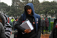 Tyrone Mings (26) of AFC Bournemouth who is rumoured to be going out on loan to West Bromwich Albion or Aston Villa, arriving ahead of the Premier League match between Bournemouth and West Ham United at the Vitality Stadium, Bournemouth, England on 19 January 2019.