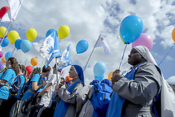 May 20, 2017 - Italy - Catholic associations, families, parishes and about a hundred international organizations Pro-life participated in Rome at the 7th edition of the March for Life, to support the inviolability of human life since conception. The demonstrators chanted slogans against abortion and chanted religious songs. (Credit Image: © Patrizia Cortellessa/Pacific Press via ZUMA Wire)