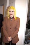 PAM HOGG, David Salle private view at the Maureen Paley Gallery. 21 Herlad St. London. E2. <br /> <br />  , -DO NOT ARCHIVE-© Copyright Photograph by Dafydd Jones. 248 Clapham Rd. London SW9 0PZ. Tel 0207 820 0771. www.dafjones.com.