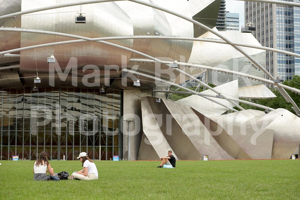 Millennium Park's Jay Pritzker Pavilion in Chicago, Illinois.<br /> Photo by Mark Black