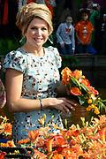 Koningsdag 2014 in de Rijp, het vieren van de verjaardag van de koning. / Kingsday 2014 in the Rijp , celebrating the birthday of the King. <br /> <br /> <br /> Op de foto / On the photo:   Koningin Maxima / Queen Maxima