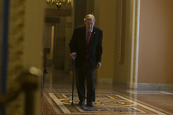May 10, 2017 - Washington, District Of Columbia, USA - Senator JOHNNY ISAKSON (R-GA) walks to the senate floor for votes on Wednesday May 10th, 2017. (Credit Image: © Alex Edelman via ZUMA Wire)