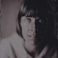 Freya, tintype portrait made with wetplate collodion process.