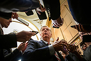 Sen. Lindsey Graham (R-SC) makes a statement to reporters before leaving the U.S. Capitol after the Senate impeachment trial of President Donald Trump was adjourned for the day on January 29, 2020 in Washington, DC. Today the trial entered the phase where senators had the opportunity to submit written questions to the House managers and President Trump's defense team.