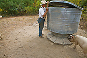 Joel Salatin, a farmer and author, goes about the day's chores at his farm in Virginia's Shenandoah Valley. (Joel Salatin is featured in the book What I Eat: Around the World in 80 Diets.)  MODEL RELEASED.