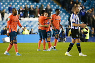Everton players celebrate at full time during the EFL Cup match between Sheffield Wednesday and Everton at Hillsborough, Sheffield, England on 24 September 2019.