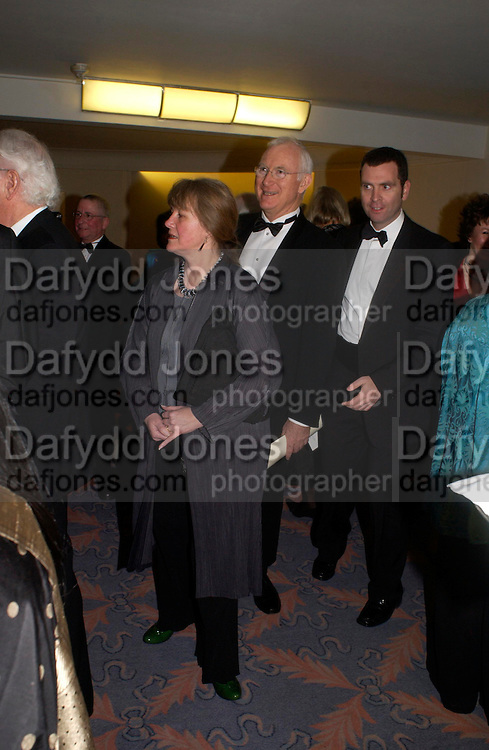 Lady and Lord Birt. Annual  Award dinner given by the Media Society in honour of Sir David Frost. Savoy. 9 March 2005. ONE TIME USE ONLY - DO NOT ARCHIVE  © Copyright Photograph by Dafydd Jones 66 Stockwell Park Rd. London SW9 0DA Tel 020 7733 0108 www.dafjones.com