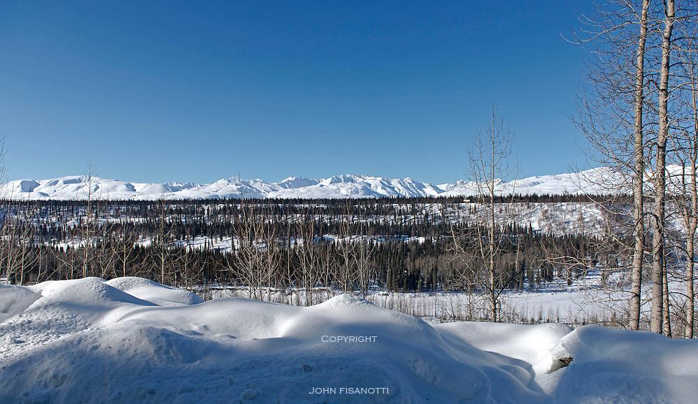 The Alaska Range in winter