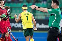 RAIPUR (India) .  Jamie Dwyer (Aus) scored.  Hockey Wold League Final  men . AUSTRALIA v BELGIUM.   © Koen Suyk/Treebypictures