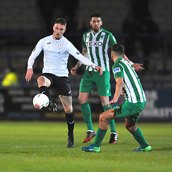 TELFORD COPYRIGHT MIKE SHERIDAN Zak Lilly of Telford during the Vanarama Conference North fixture between AFC Telford United and Blyth Spartans at The New Bucks Head on Tuesday, January 28, 2020.<br /> <br /> Picture credit: Mike Sheridan/Ultrapress<br /> <br /> MS201920-043