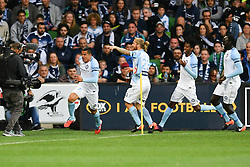 December 17, 2016 - Melbourne, Victoria, Australia - TIMOTHY CAHILL (17) of Melbourne City celebrates his goal in the round 11 match of the A-League between Melbourne City and Melbourne Victory at AAMI Park, Melbourne, Australia. Victory won 2-1 (Credit Image: © Sydney Low via ZUMA Wire)