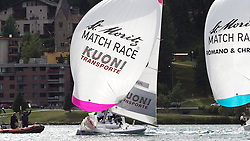 Eric Monnin, Swiss Match Race Team (left) picks up a second penalty against Ian Williams, Team GAC Pindar. St Moritz Match Race 2010. World Match Racing Tour. St Moritz, Switzerland. 2nd September 2010. Photo: Ian Roman/WMRT.