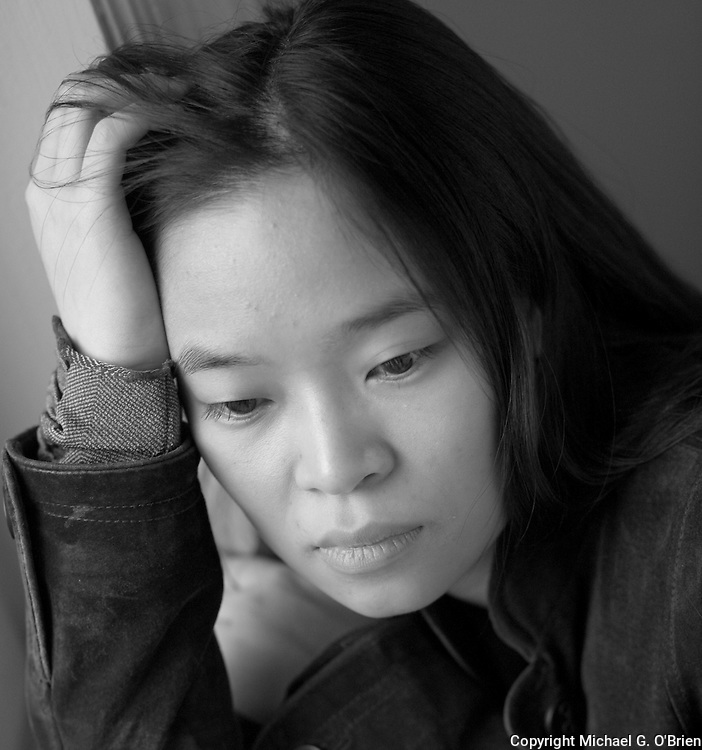 This is a location portrait of Wendy, a gifted photographer and web site designer. Photo made in Toronto.