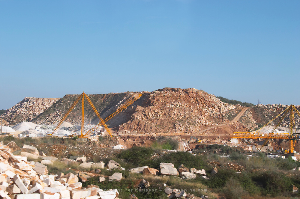 marble quarry borba alentejo portugal