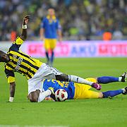 Fenerbahce's Mamadou NIANG (L) during their Turkish superleague soccer match Fenerbahce between Ankaragucu at the Sukru Saracaoglu stadium in Istanbul Turkey on Sunday 15 May 2011. Photo by TURKPIX