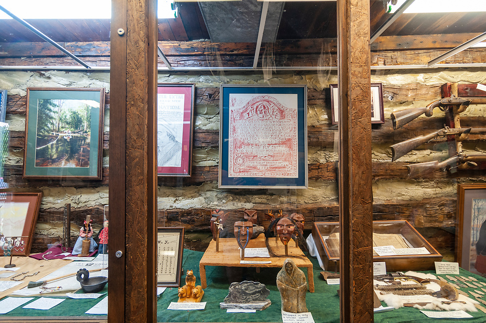 The small museum inside the visitor center at the Cherokee Trail of Tears Commemorative Park in Hopkinsville, Kentucky on Friday, August 11, 2017. Copyright 2017 Jason Barnette