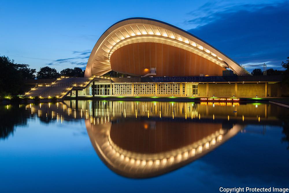 "House of the Cultures of the World ""Haus der Kulturen der Welt"", Berlin, Germany. Built 1957. Architect: Hugh Stubbins. Engineer:  Fred Severud"